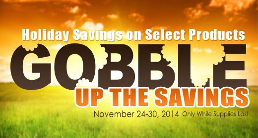 Gobble Up The Savings