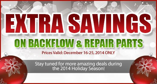 Extra Savings on Backflow and Repair Parts