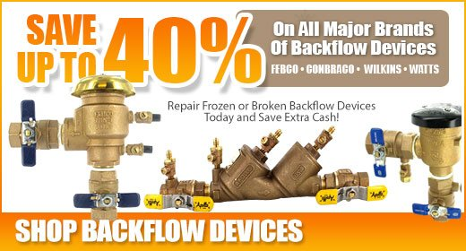 Backflow Devices - Save up to 40%