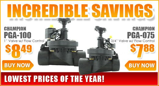 Incredible savings on Champion PGA Valves