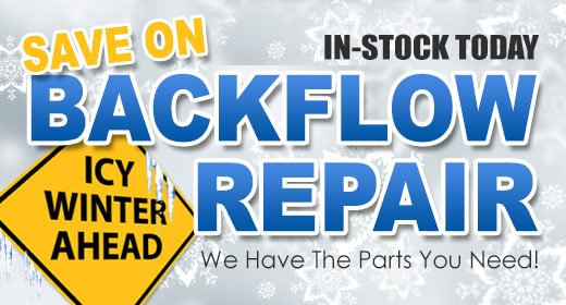 Icy Winter Ahead - Backflow Repair Sale