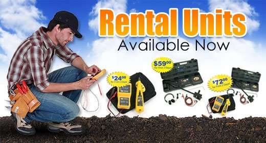Valve Locator and Multimeter Rentals