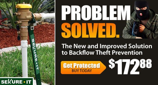 Sekure It Backflow Theft Prevention