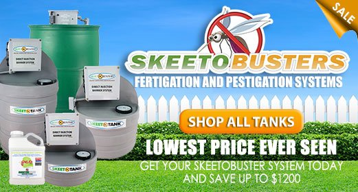 SkeetoBuster all-in-one solution for pest control and fertigation