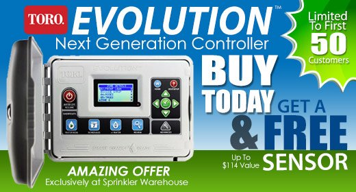 Toro Evolution Controller with FREE Sensor