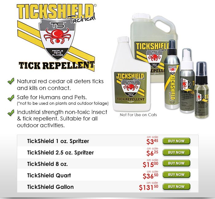 TickShield Tactical Tick Repellent Spray
