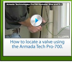 How to locate a valve using the Armada Tech Pro-700