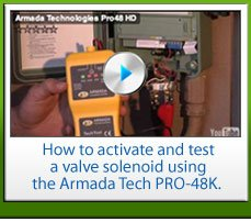 HOw to activate and test a valve solenoid using the Armada Tech Pro-48k