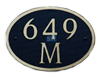 Oval Shaped Address Plaques - Dekorra