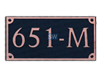 Dekorra Rectangle Shaped Address Plaques