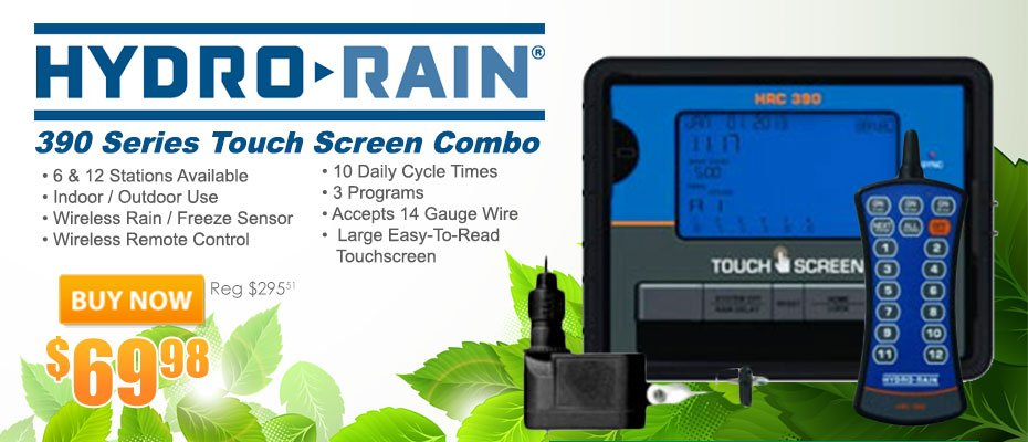 HydroRain 390 Series Touch Screen Combo Controller Timer