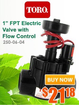 Toro 1inch FPT Electric Valve with flow control