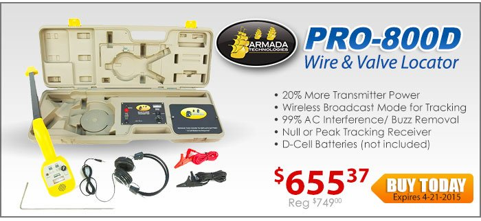 Armada PRO-800D-HI Power Wire and Valve Locator-D-cell