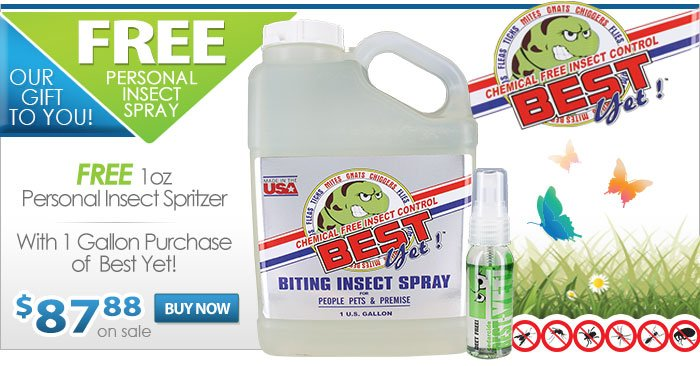 FREE Person Insect Spray with 1 Gallon Purchase of Best Yet Insect Repellent