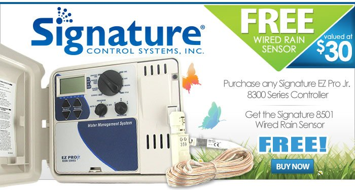 FREE Wired Rain Sensor with Purchase of any Signature EZ Pro Jr. 8300 Series Controller