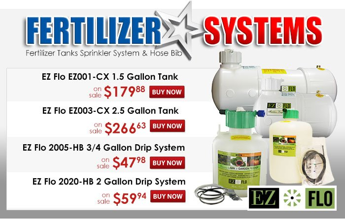 Fertilizer Systems for your sprinkler system.