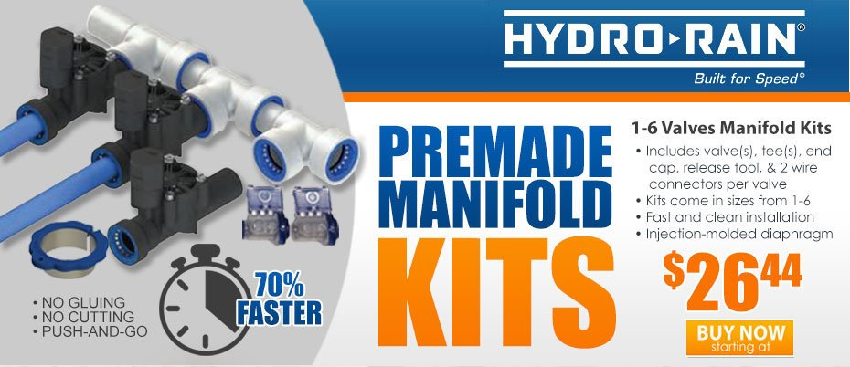 Hydro-Rain Mix & Match | MANIFOLD KITS