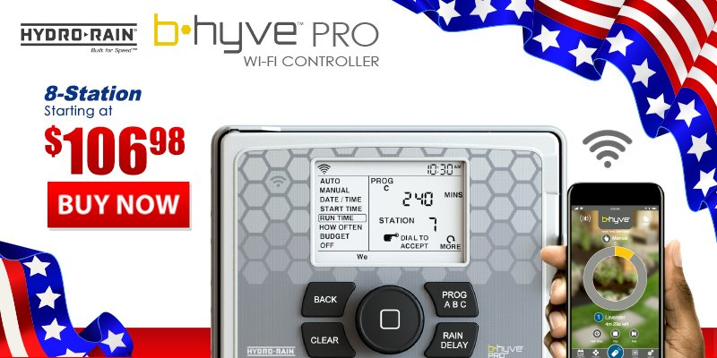 Hydro-Rain B-Hyve Controllers For Lawn Sprinklers